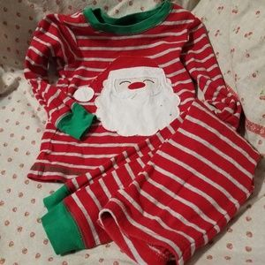 2T Pajamas Santa Applique